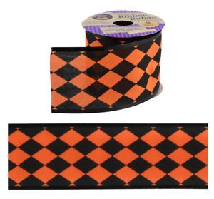 New Wired Edged Ribbon Halloween Bats Hats Happy Halloween ~ Choose ~(Qty 1)