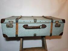 Valise ancienne carton bois fer décoration rangement - Antic suitcase