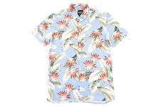 BARNEY COOL FLORAL HAWAIIAN LARGE LINEN BLEND SHORT SLEEVE BUTTON DOWN SHIRT NWT