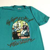 Roy Rodgers Dale Evans Museum T Shirt Adult S Aqua Cowboy Vintage 90s USA Rare
