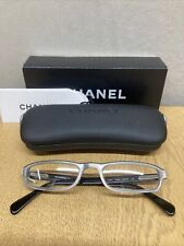 Chanel Ladies Black And Silver Rim Glasses Frame With Case And Box