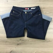 JAG High Rise Turn Up Crop Size 14 Women's Jeans Actual W30 L25.5 R9.5 (BU2)