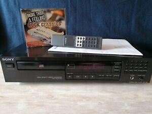 Sony CDP-295 CD-Player + Fernbedienung + Bedienungsanleitung