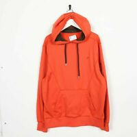 Vintage FILA Small Logo Polyester Hoodie Sweatshirt Orange | Large L | Grade B