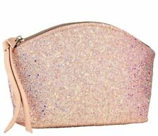 Sephora OCEAN CRUSH Pouch Pink Glitter Makeup Bag Cosmetic Travel Case
