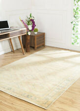 Indian Hand Knotted Beige and Brown Colour Wool 150X240 Geometric Area Rug