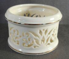Scarce vintage Lenox Bone China lattice Votive Candle Holder