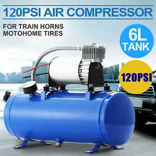 Air Compressor 6L Tank 150PSI DC 12V FOR Train Horns 120 psi truck pressure