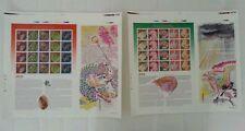 Year Of Dragon Malaysia 2000 Lunar Fish Arowana (Imperf sheetlet pair) MNH -Rare