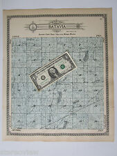 1915 MI, Branch Co, BATAVIA Twp Plat Map Landowners Acreage. Michigan. Large