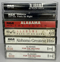 Alabama Country Music Cassette Tapes Lot of 7 Greatest Feels Touch Pass Week