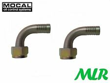 MOCAL HEF93-8 90° 1/2 BSP OIL COOLER REMOTE FILTER HOSE PIPE FITTINGS UNIONS QF