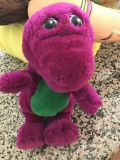 "Barney Dinosaur Plush Purple 11"" Vintage Barney and Friends"