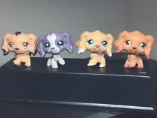 4 Littlest Pet Shop Cocker Spaniels Dogs  #575 #672 #716 #748 Snowflake Eyes All