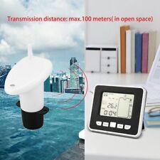 Ultrasonic Water Tank Level Meter Lcd Gauge Monitor Liquid Depth Sensor Thermo