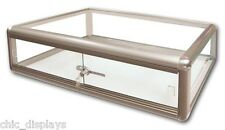 GLASS BRONZE DISPLAY CASE STORE FIXTURE BOUTIQUE SHOWCASE KEY LOCK DEAL!