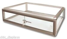 GLASS COUNTERTOP DISPLAY CASE STORE FIXTURE BOUTIQUE SHOWCASE KEY LOCK DEAL!