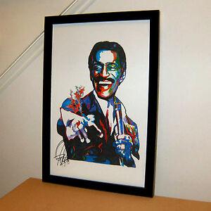 Sammy Davis Jr Rat Pack Candy Man Singer Jazz Music Print Poster Wall Art 11x17