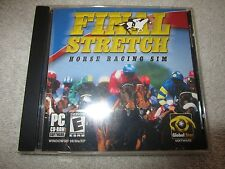 Final Stretch: Horse Racing Sim PC CD-ROM with Manual