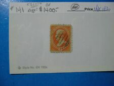 SCOTT 141 15¢ ORANGE USA STAMP  FINE  RARELY OFFERED!!!!