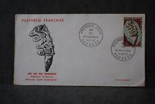 Polynésie française Enveloppe 1er  jour 1967 ART DES ILES MARQUISES