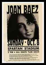 "Framed Vintage Style Rock n Roll Poster ""JOAN BAEZ"";12x18"