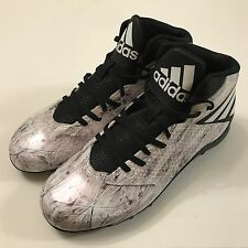 Adidas Mens Freak Mid Football Shoes Cleats Spikes B49386 Pearl White Black 8.5
