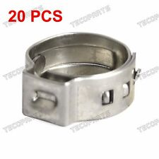"""20 Packed 3/8"""" PEX Stainless Steel Clamp Cinch Ring Crimp Pinch Fitting Tubing"""