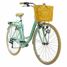 "Damen Cityrad 28"" mit Korb Citybike 6 Gänge Cantaloupe Mint KS Cycling 505C"