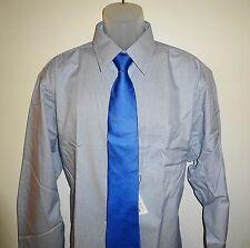 Roundtree Yorke Gold Label Dress Shirt * Blue Multi Striped * 20 - 34/35  Big