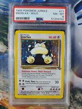 New listing 1999 Pokemon Jungle Snorlax #11 Holo Psa 8 Nm-Mt near mint graded fast shipping