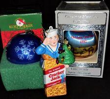 Vintage Christmas Ornaments-Cracker Jacks Kurt Adler 1982 Satin