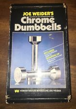 Vintage Weider Chrome Executive Dumbbell Weight Set 3 Lbs Rare