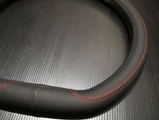 38cm Type D Style Bk Rd Line PU Leather Car Steering Wheel Cover For VW Golf MK7