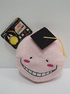 "Assassination Classroom Koro Sensei Pink Head keychain 5"" Plush Toy Doll japan"