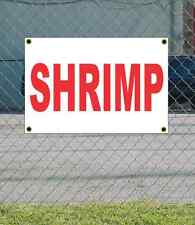 2x3 SHRIMP Red & White Banner Sign NEW Discount Size & Price FREE SHIP