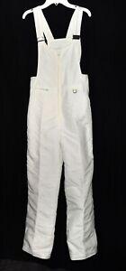 Vintage Cevas Schoeller White Bib Overalls Insulated Nylon Snow Ski Pants Size 8