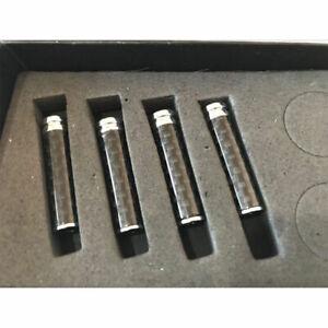 4xUniversal Real Carbon Fiber Interior Door Lock Knobs Pins Handles for Car Suv