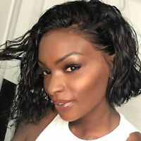 Bob Water Wave Full Wig 100% 8A Virgin Brazilian Human Hair Wigs Black Women ga6