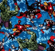 Fat Quarter Marvel Avengers United Counted Cotton Quilting Fabric