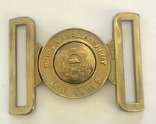 Royal Canadian Army Pay Corps Brass Belt Buckle Gaunt-Montreal, England.