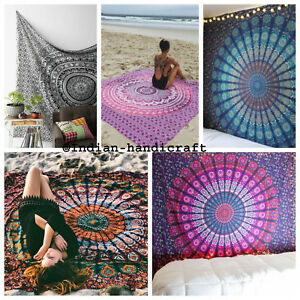 Indian Bedding Bedspread Coverlet Hippie Bohemian Single Size Bedding Bed Cover