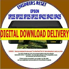EPSON XP225 XP322 XP325 XP323/425 WASTE INK PAD COUNTER RESET - DIGITAL DOWNLOAD