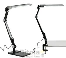 NEW MERCATOR EUGENE 9w LED DESK/CLAMP TOUCH DIMMABLE LAMP ADJUSTABLE BLACK