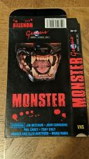 MONSTER VHS BOX ONLY NO TAPE SEE DESCRIPTION HORROR GENESIS HOME VIDEO