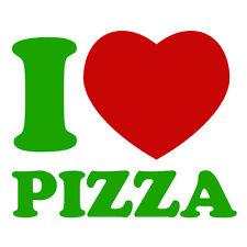 ERBA verde & rosso i love pizza consegna DIVERTENTE AUTO FRIGO Finestra Adesivo Decalcomania