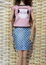 Mattel Barbie Fashion clothes skirt and top. Genuine Mattel (Doll not included)