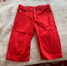 Hugo Boss Chino Style Shorts in Red for Boys