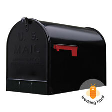 GIBRALTAR JUMBO POST MOUNT MAILBOX Extra Large Unit Mail Galvanized Steel Black