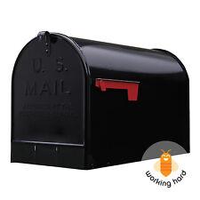 GIBRALTAR JUMBO POST MOUNT MAILBOX Extra Large Unit Mail Galvanized Steel Black